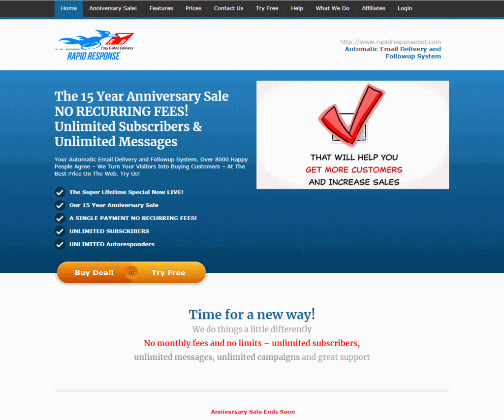 RapidResponseBot Homepage